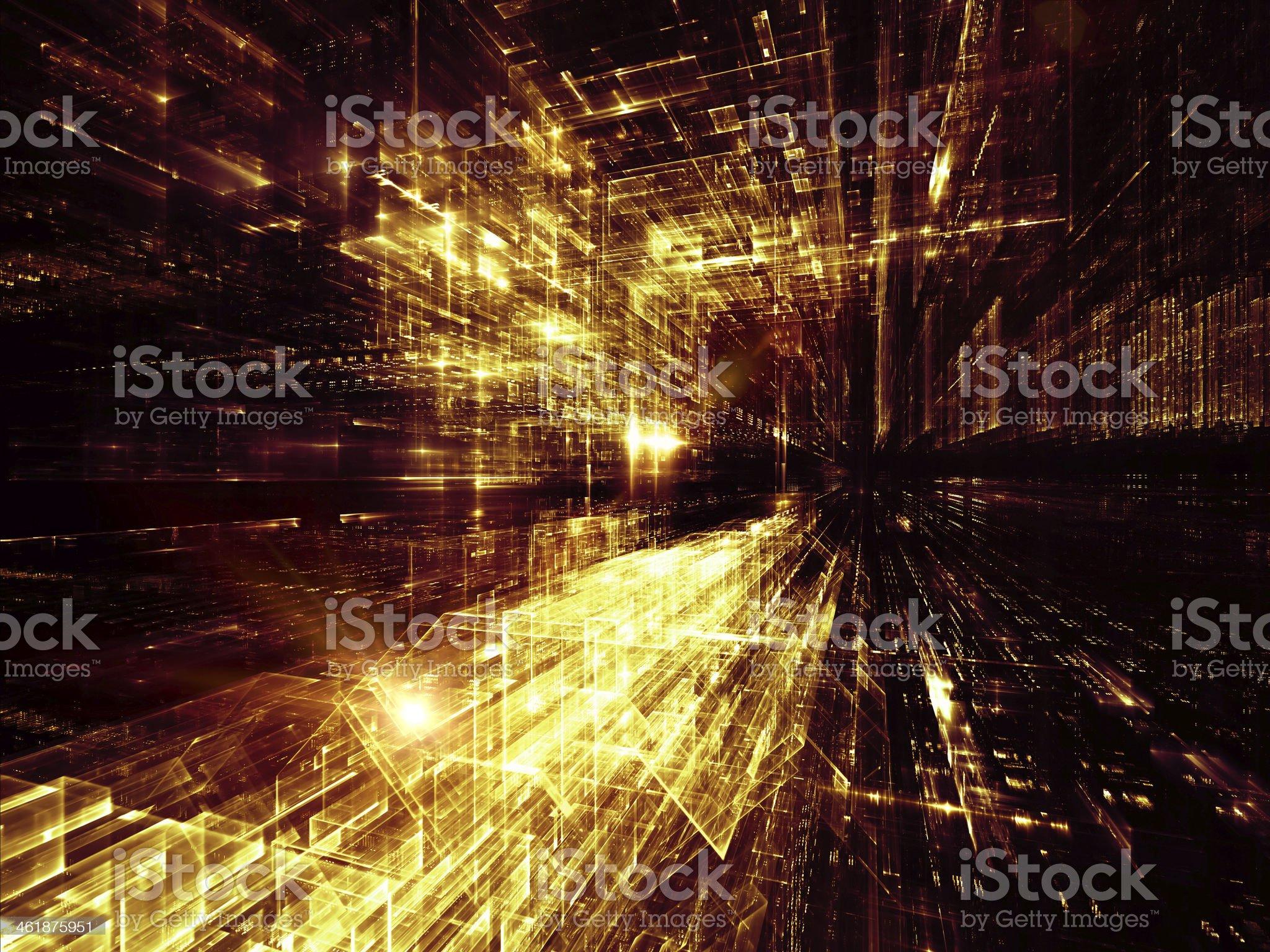 Virtual City royalty-free stock vector art