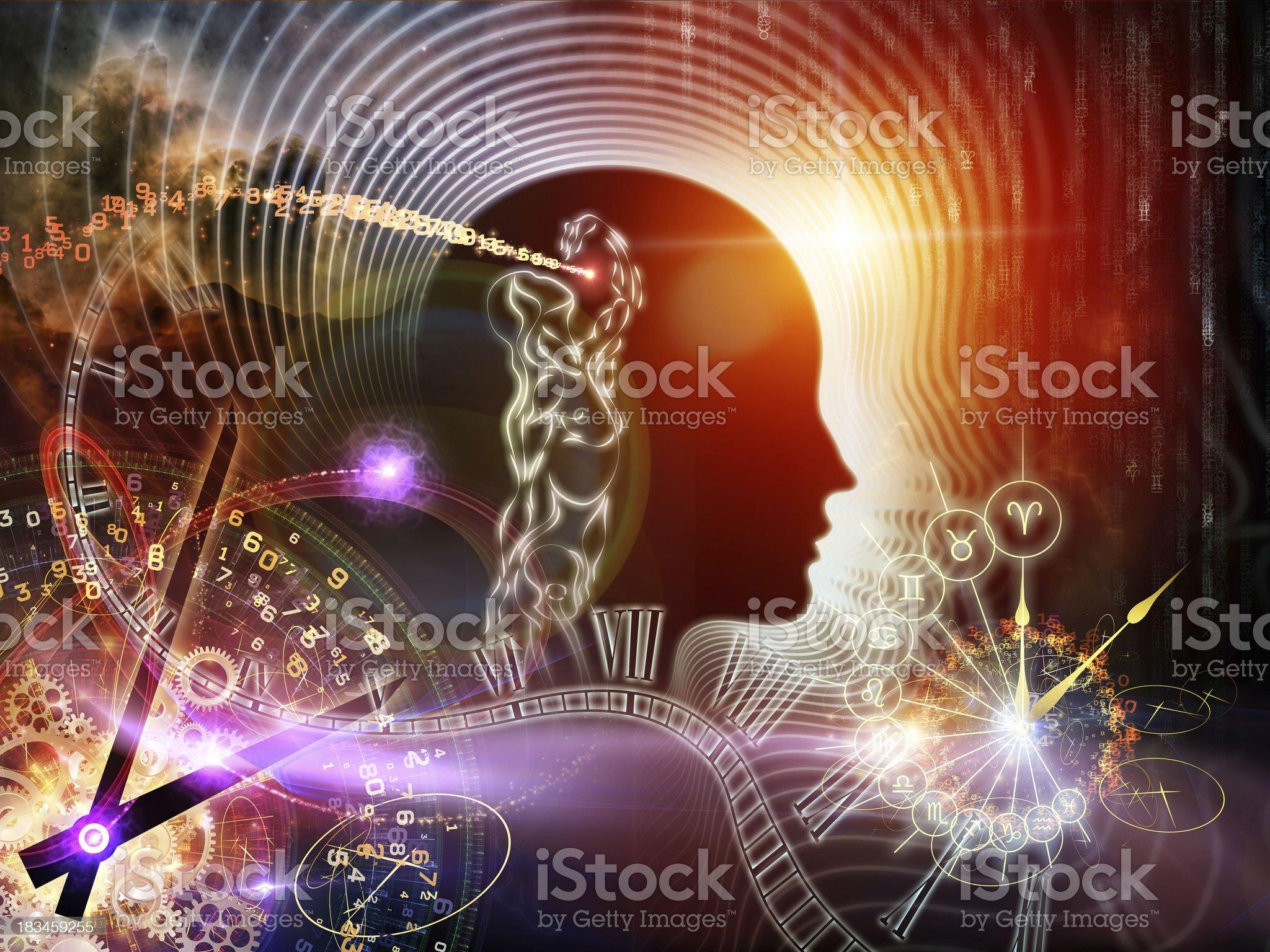 Virtual Human Mind royalty-free stock vector art