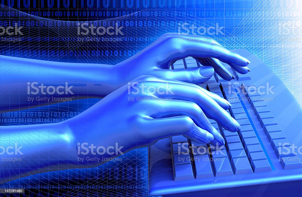 Virtual Keyboard royalty-free stock vector art