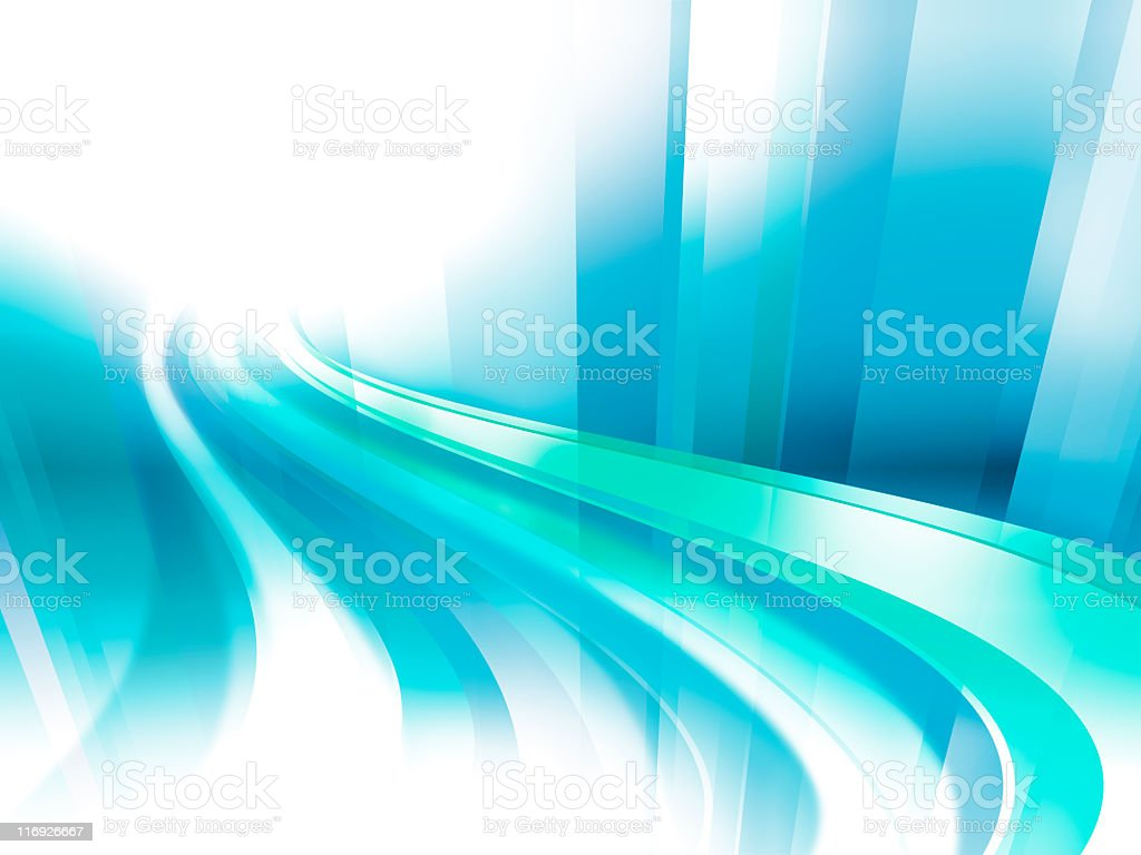 Virtual speedway - dynamic abstract digital composition in blue royalty-free stock photo