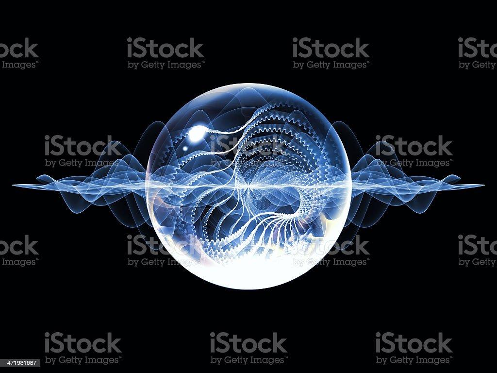 Virtual Wave Particle vector art illustration
