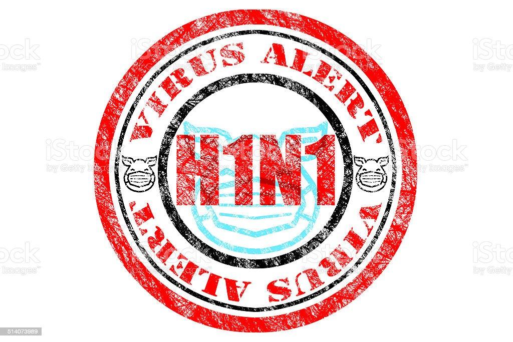 H1N1 Virus Alert Concept vector art illustration