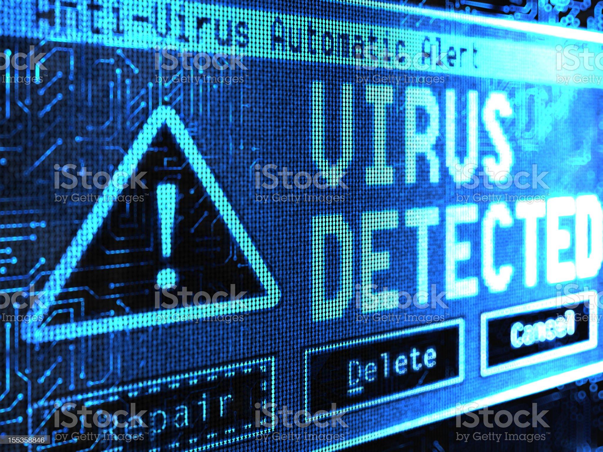 Virus Detected royalty-free stock vector art