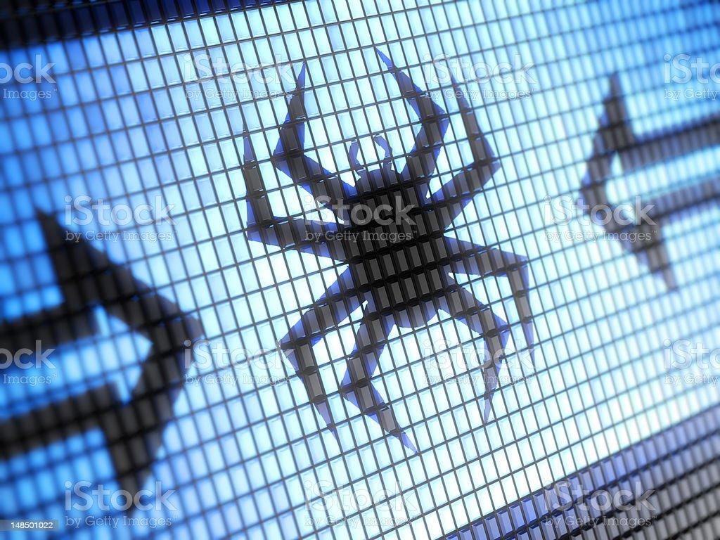Virus vector art illustration