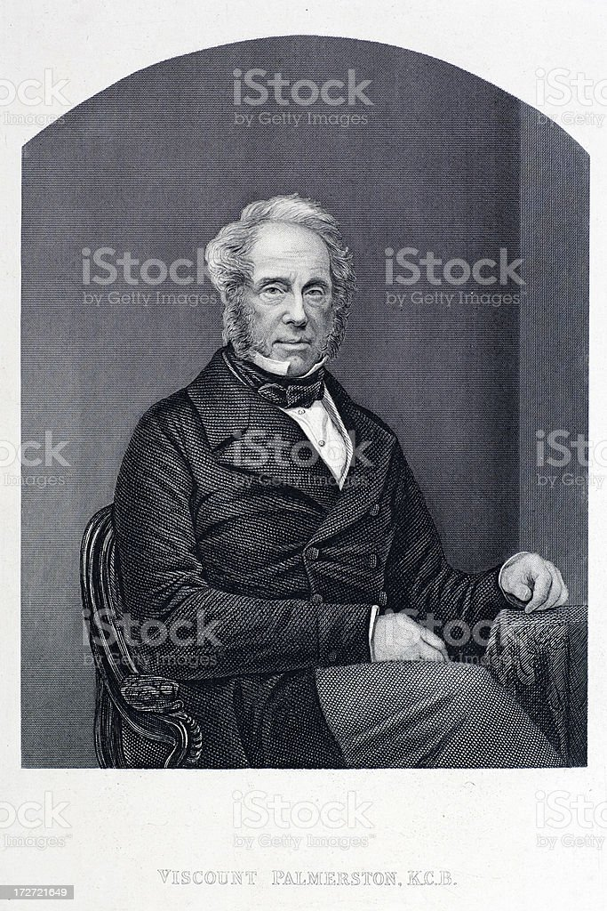 Viscount Palmerston royalty-free stock vector art