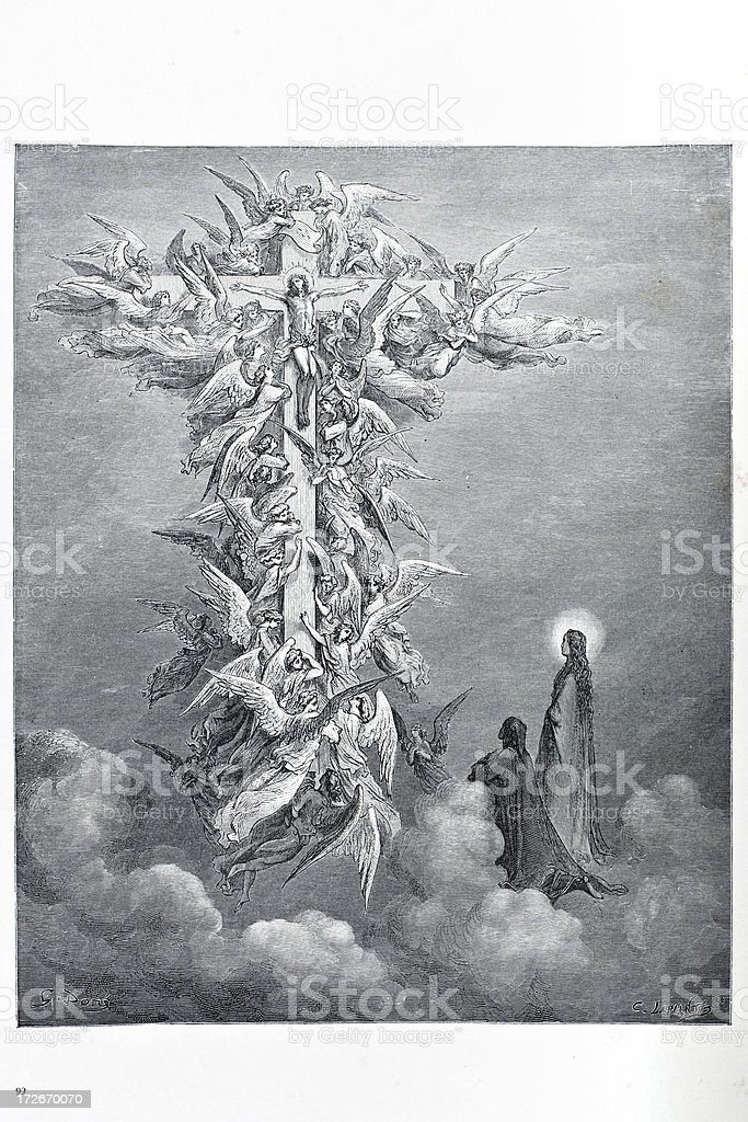Vision of the cross royalty-free stock vector art