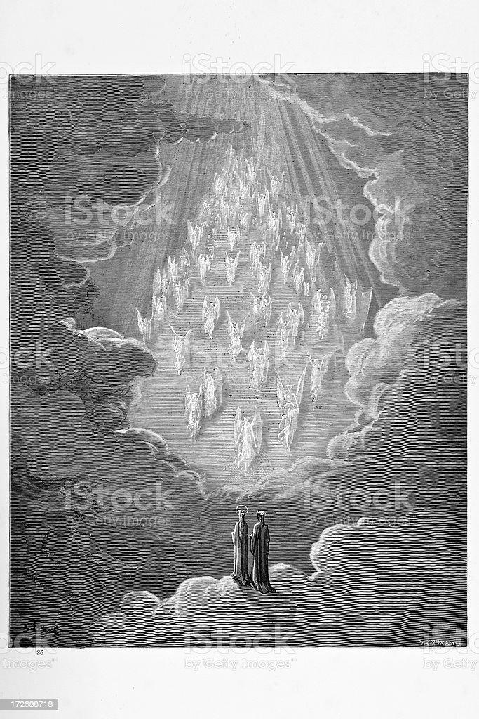 Vision of the golden ladder vector art illustration