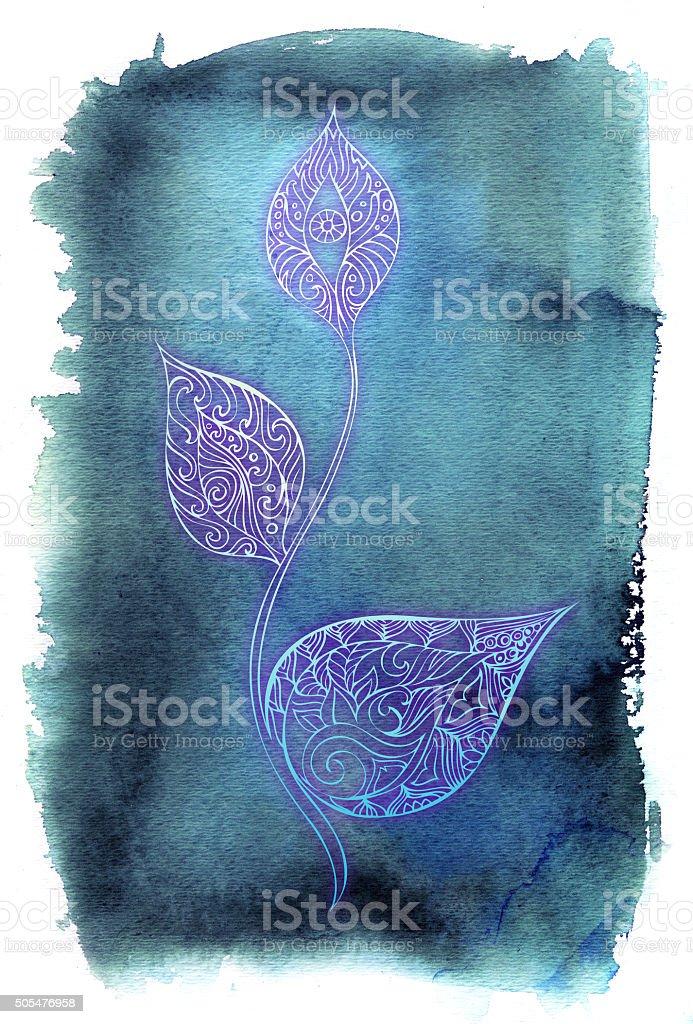 visionary soul flower vector art illustration