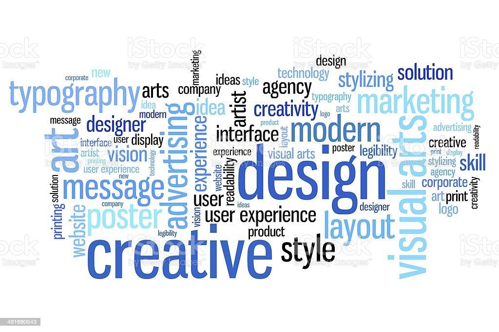 Visual arts vector art illustration