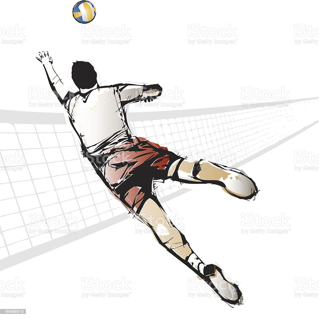 volleyball player royalty-free stock vector art