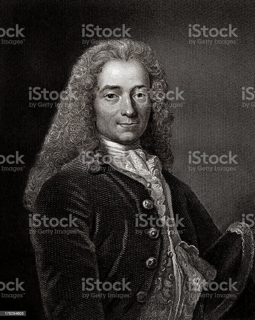 Voltaire, French Writer And Philosopher. royalty-free stock vector art