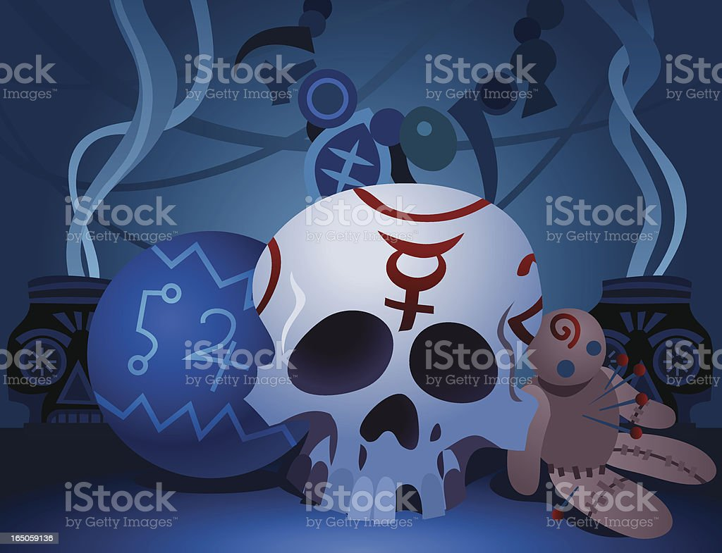 Voodoo Props vector art illustration
