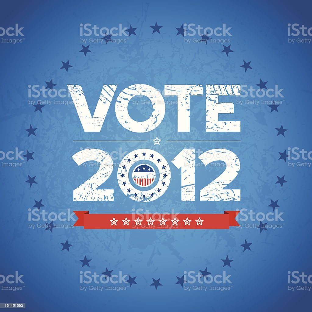 Vote 2012 background vector art illustration