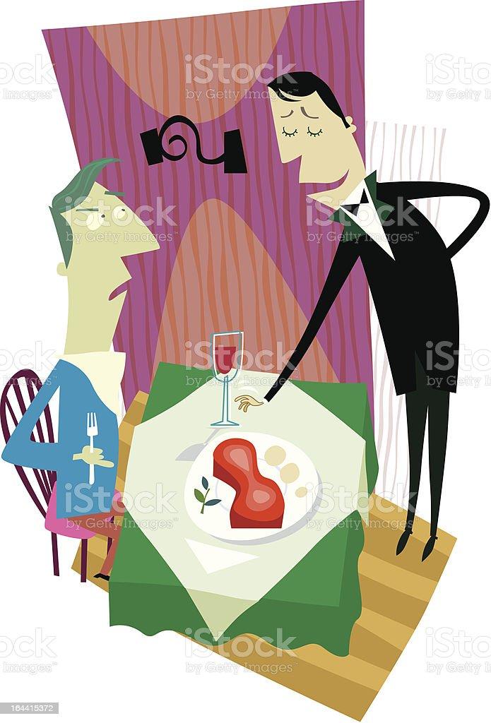 waiter and costumer royalty-free stock vector art