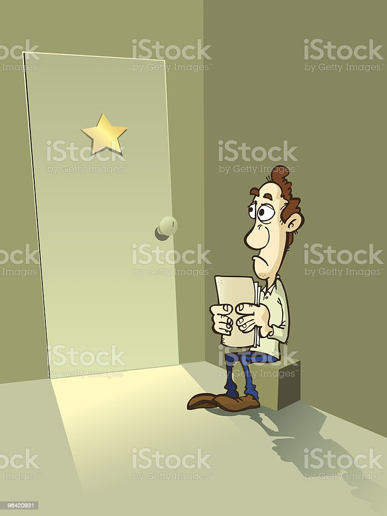 Waiting for the part vector art illustration