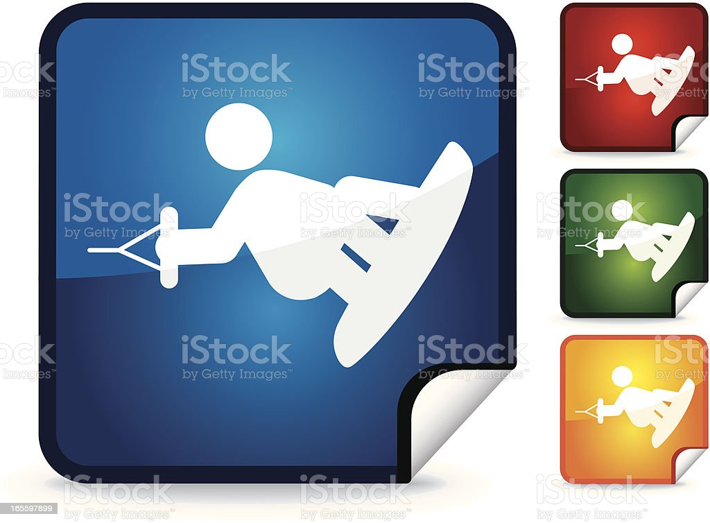Wakeboarding | Sticker Collection royalty-free stock vector art