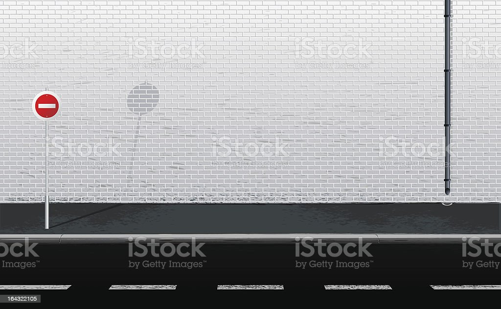 wall of the house vector art illustration