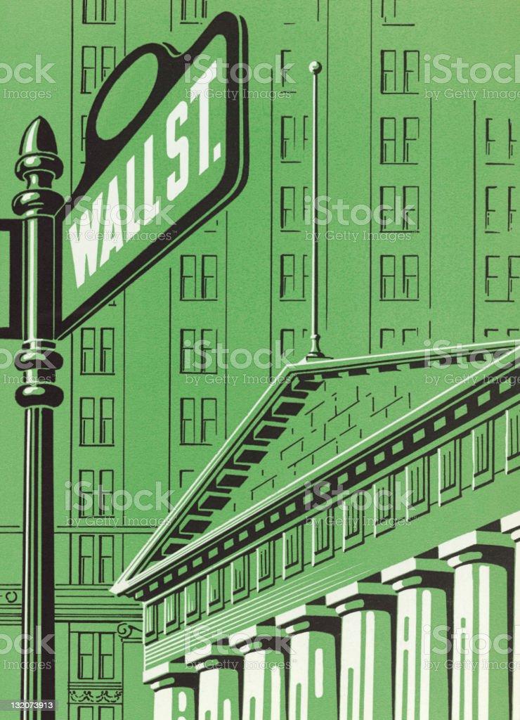Wall Street royalty-free stock vector art