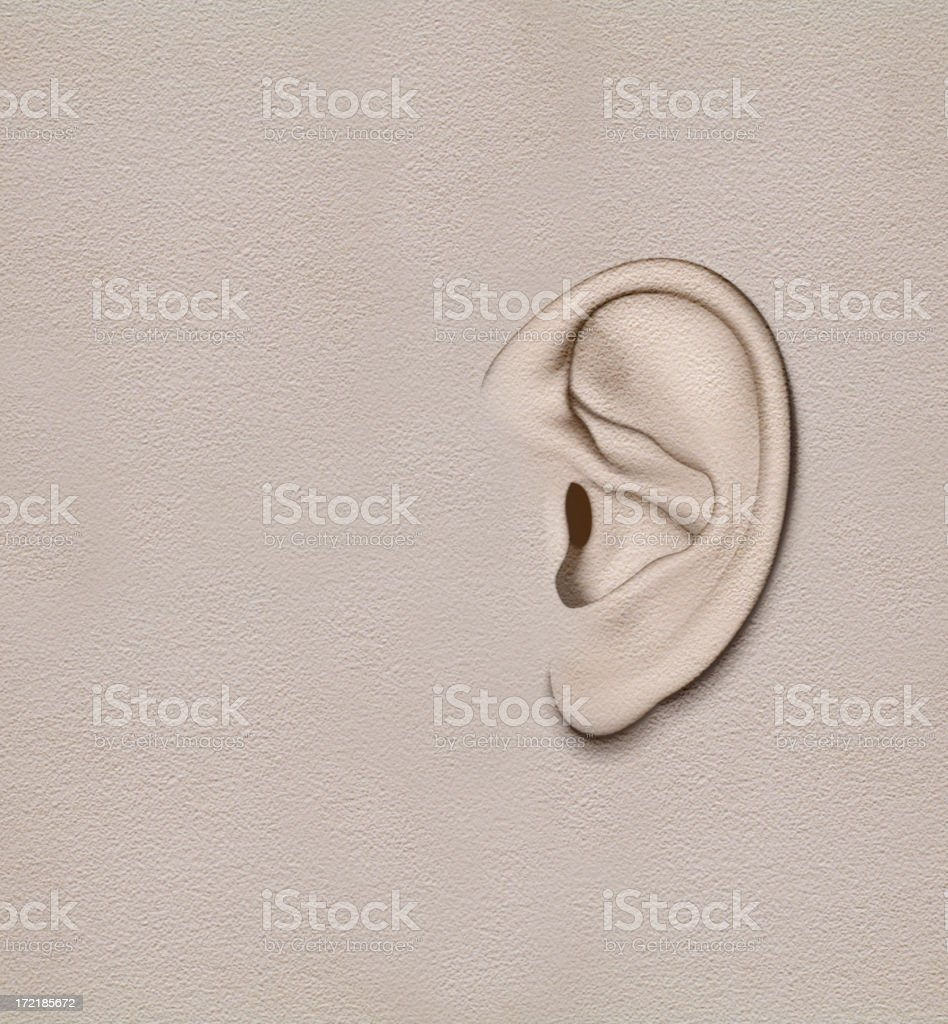 wall that got ears vector art illustration