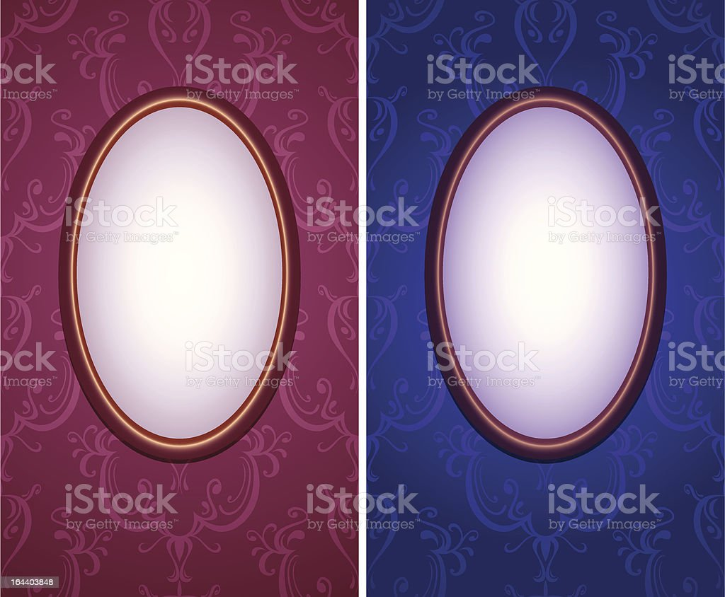 wallpapers with oval frame vertical royalty-free stock vector art