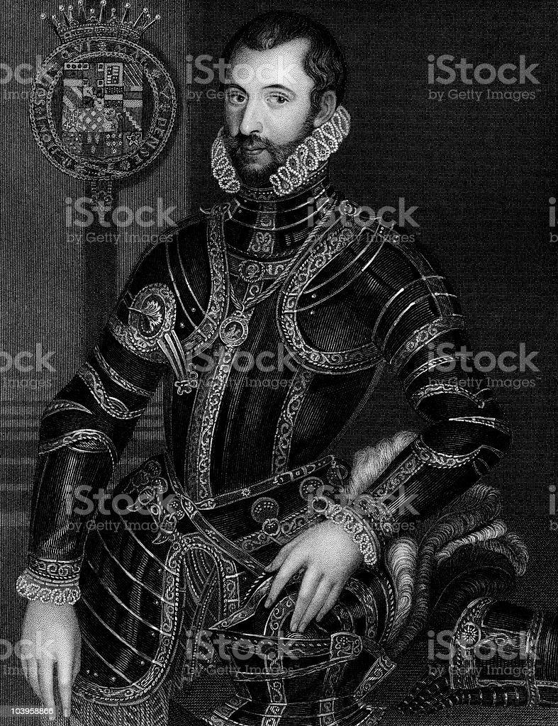 Walter Devereux, Earl of Essex royalty-free stock vector art