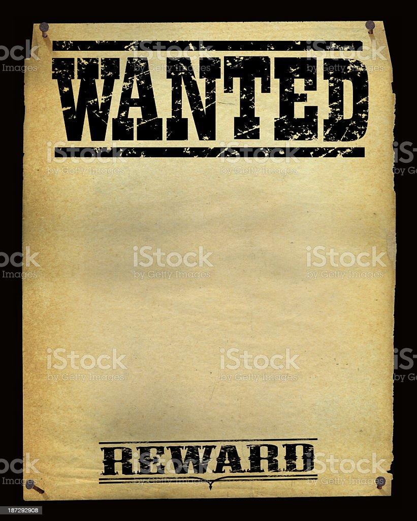 Wanted Poster Background - Vintage vector art illustration