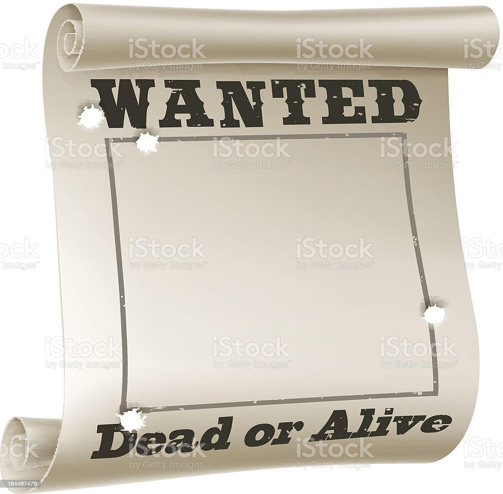 Wanted poster royalty-free stock vector art
