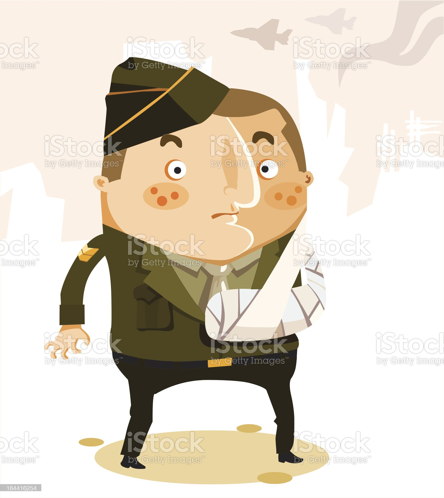 War Casualty of US Army. Vector Illustration royalty-free stock vector art