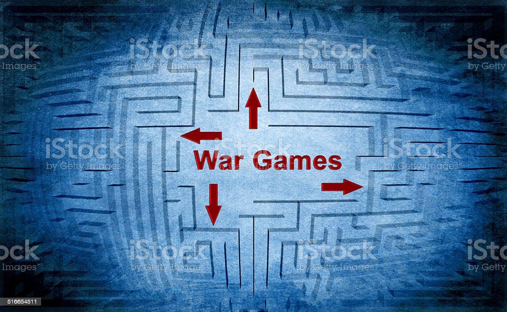 War games maze concept vector art illustration