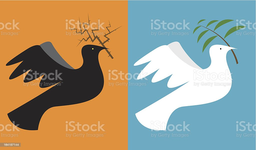 War & Peace vector art illustration