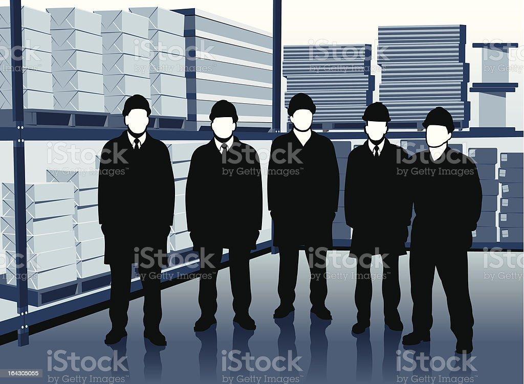 warehouse team royalty-free stock vector art