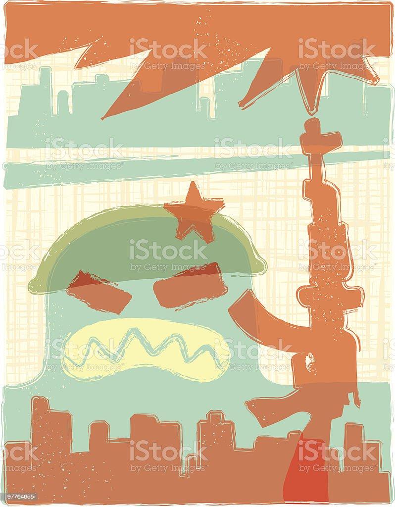 Warfare vector art illustration
