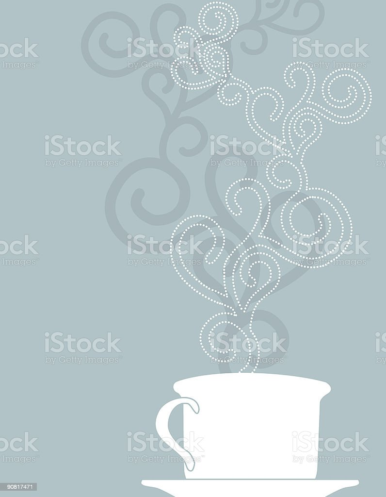 Warm cup of coffee royalty-free stock vector art