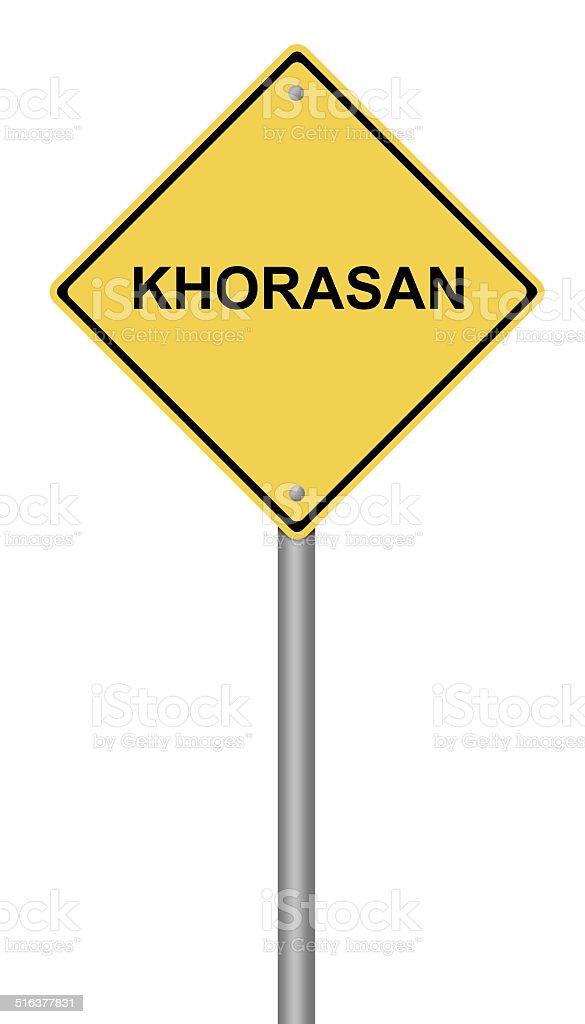 Warning Sign KHORASAN vector art illustration