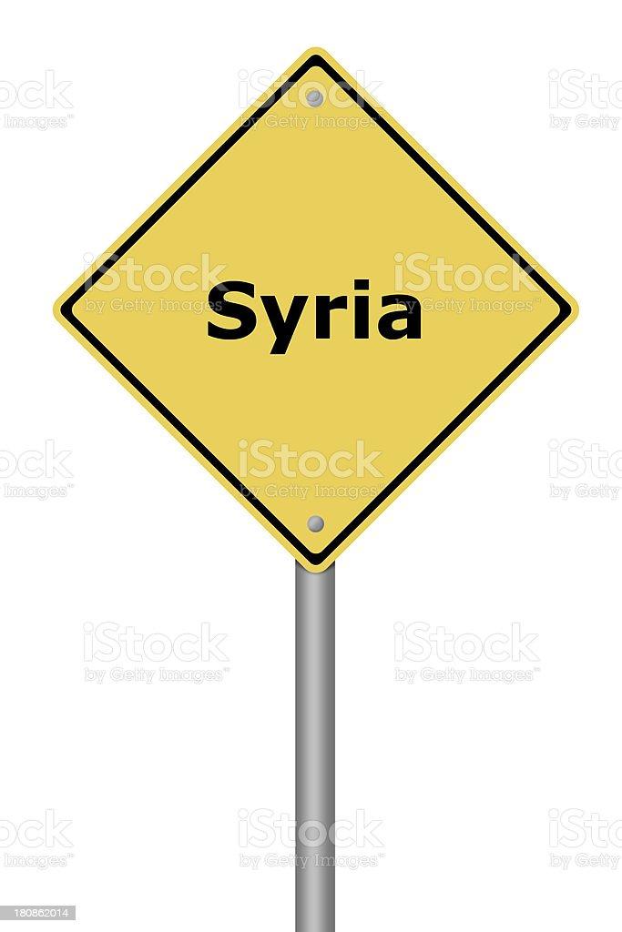 Warning Sign Syria royalty-free stock vector art