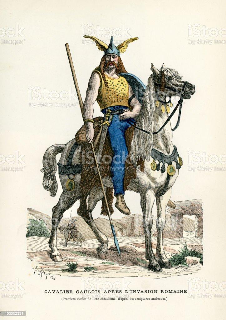 Warrior of Gaul vector art illustration
