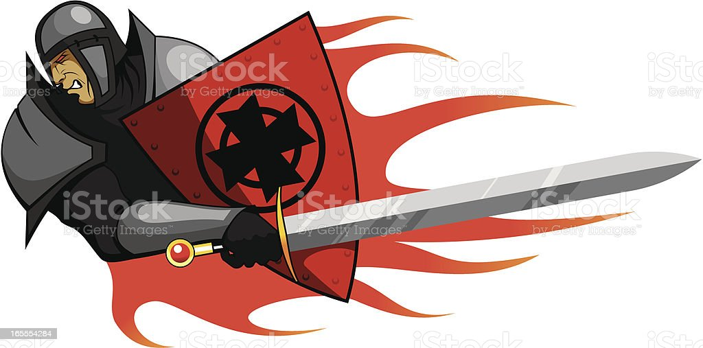 Warrior with the sword royalty-free stock vector art