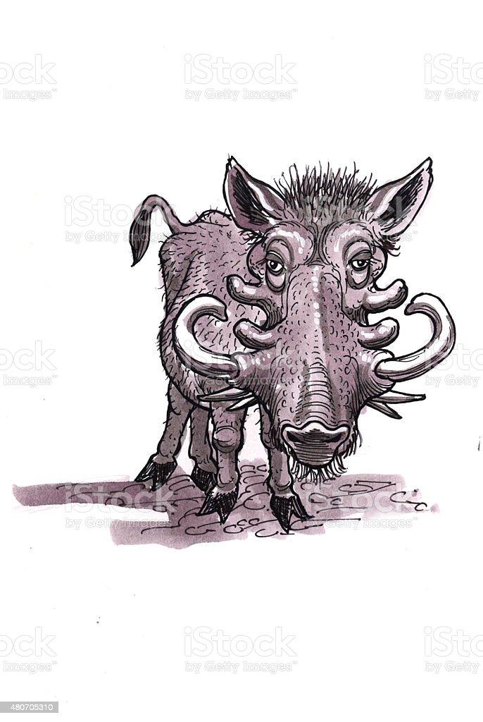 Warzenschwein (Comic Lizenzfreies vektor illustration
