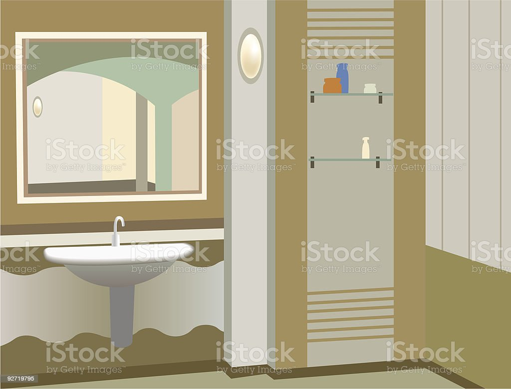 wash stand vector royalty-free stock vector art