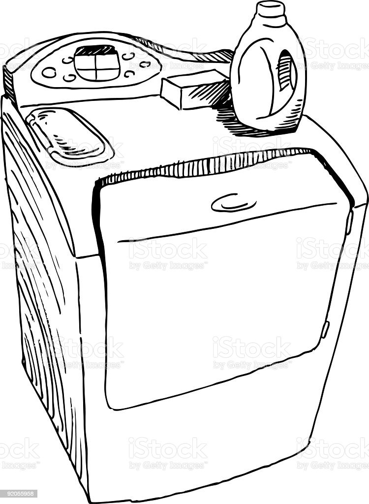 Washing Machine royalty-free stock vector art