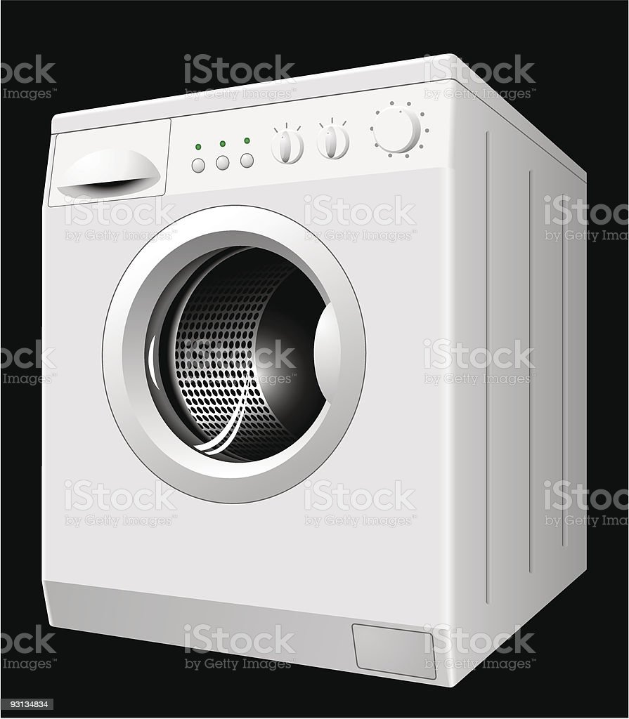 Washing machine vector art illustration