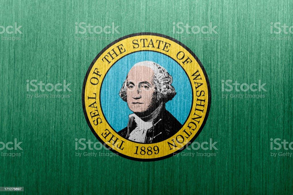 Washington Flag vector art illustration