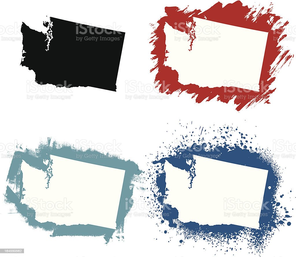 Washington vector art illustration