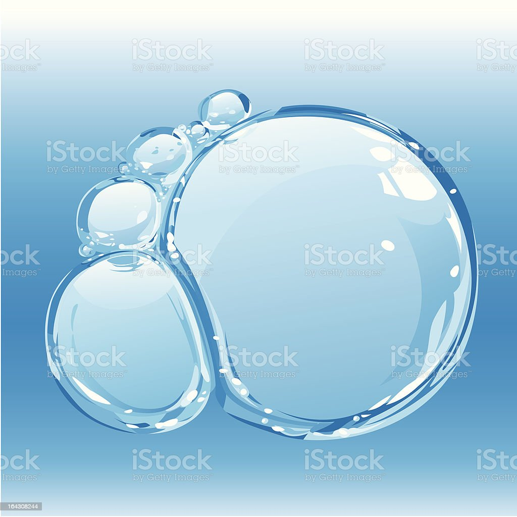 Water bubbles royalty-free stock vector art