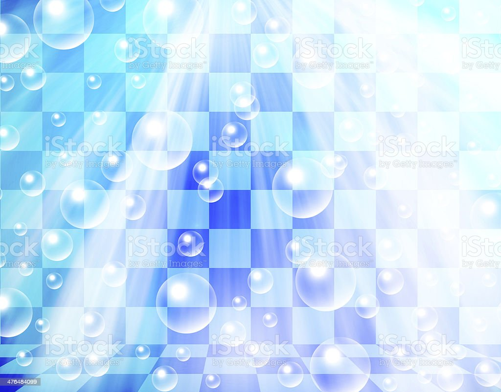 water bubbles on chessboard background royalty-free stock vector art