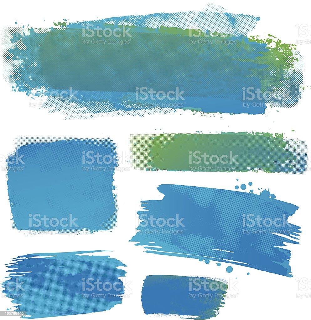 Water colour backgrounds vector art illustration