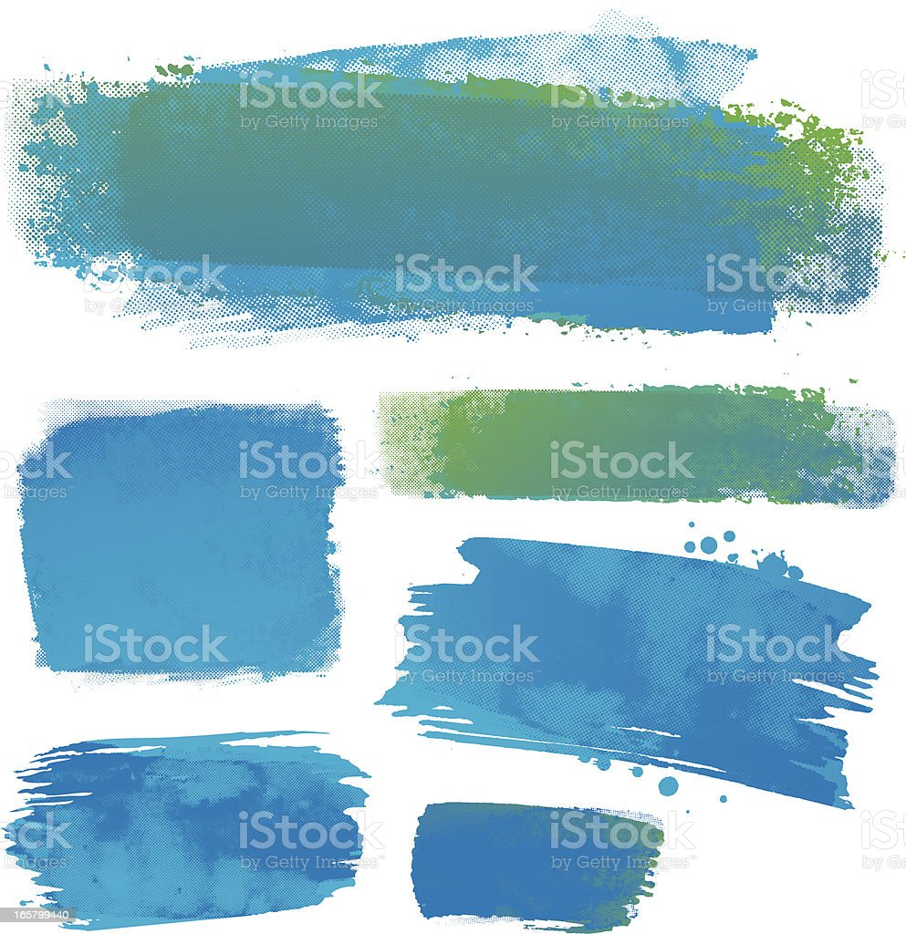 Water colour backgrounds vector art illustration