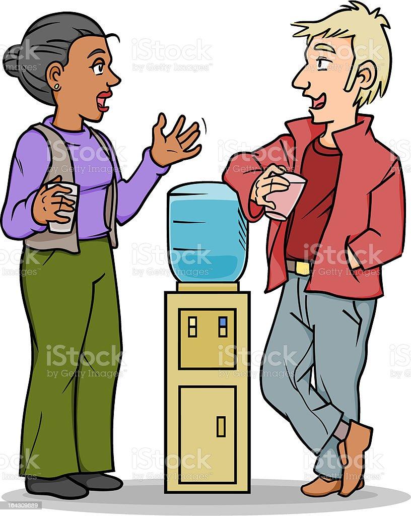 Water Cooler Conversation vector art illustration