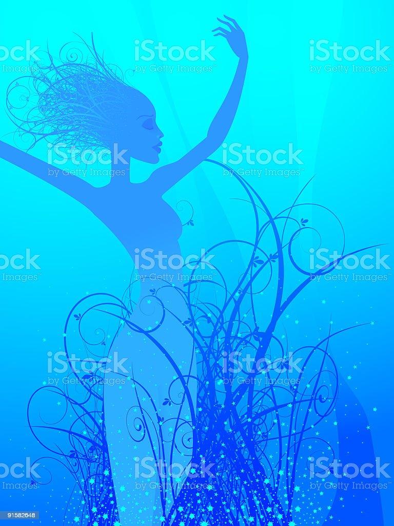 Water dance vector art illustration