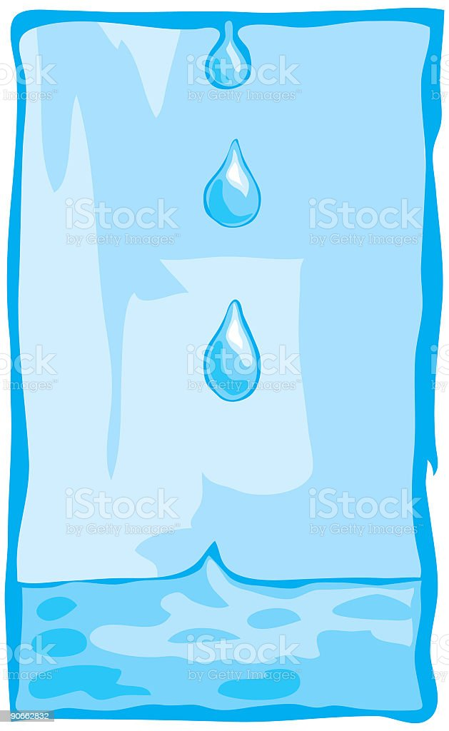 Water Drips vector art illustration